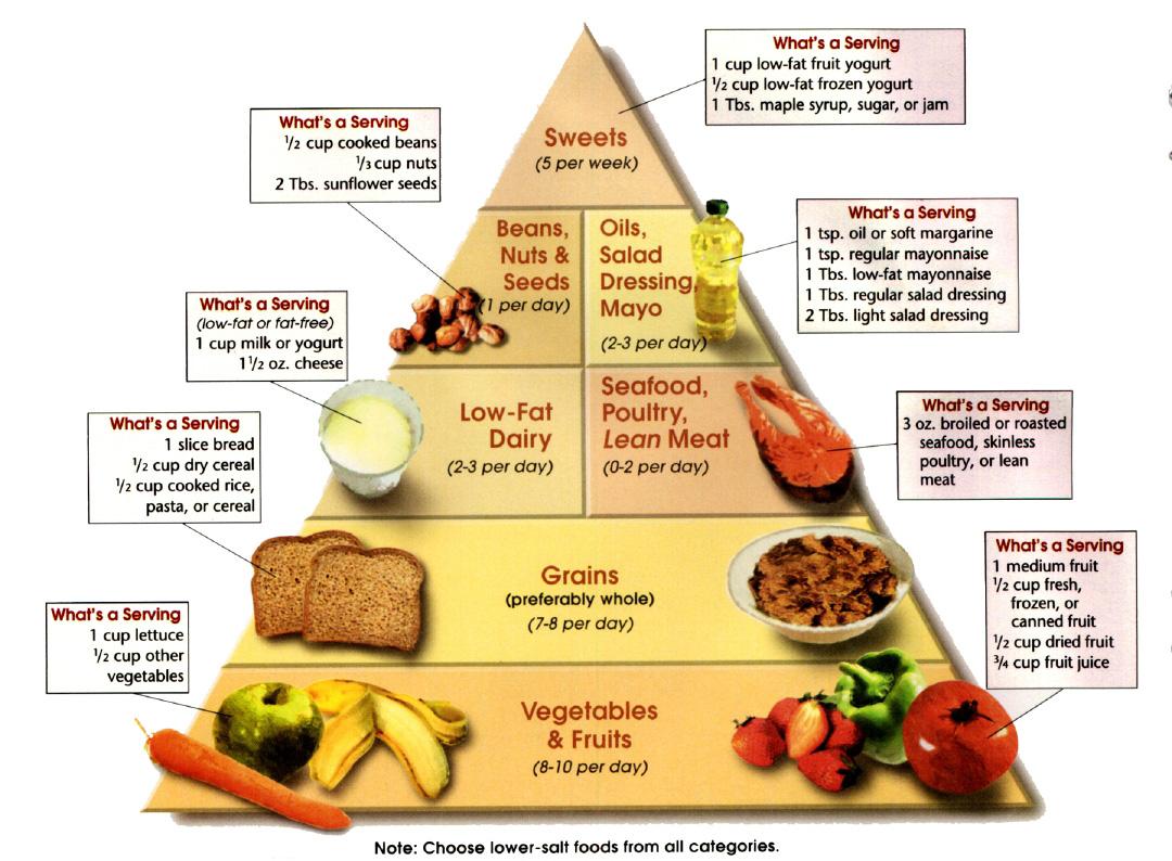 الطرق الغذائية لوقف الدم العالي