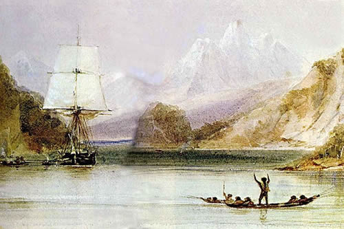 Beagle in the Beagle Channel