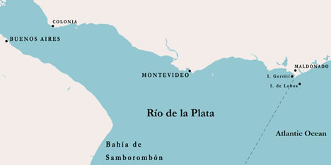 Map of the Isla de Lobos